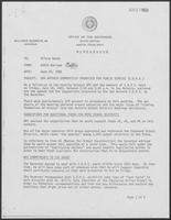 Memorandum from Eddie Aurispa to Hilary Doran, June 23, 1982