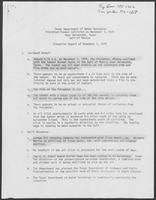 "Situation Report titled ""Texas Department of Water Resources Freighter/Tanker Collision on November 1, 1979 near Galveston,"" November 2, 1979"