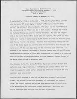 "Press Release titled ""Texas Department of Water Resources Freighter/Tanker Collision on November 1, 1979,"" November 20,  1979"