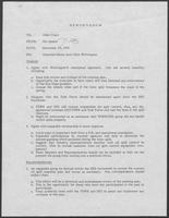 Memo from Mit Spears to Allen Clark regarding attached memo from Dick Whittington, December 19, 1979