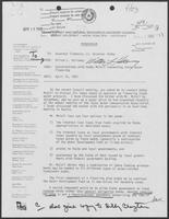 Memorandum from Milton L. Holloway to Governor William P. Clements, Jr., April 16, 1982