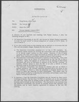 Confidential memo from Jim Cicconi to Doug Brown and Allen Clark regarding Private Industry Council (PIC), March 26, 1980