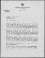 Letter from Richard Mellado to William P. Clements, April 13, 1981