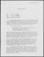 Memo from Paul Edwards to Richard Montoya regarding Meeting with TABC staff, August 16, 1979