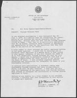 Memo from William P. Clements to all state agency/departments/boards regarding Vietnam Veterans Week, May 10, 1979