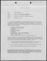 Memo from Richard English to Tobin Armstrong regarding Teachers' Professional Practices Commission, December 30, 1980