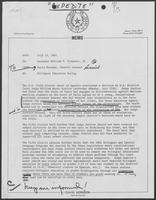 Memo from David Herndon to Bill Clements, July 13, 1982