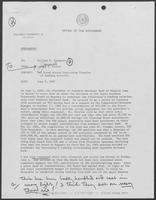 Memo from Jarvas E. Miller to Bill Clements, June 9, 1982
