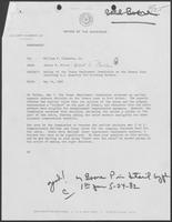Memo from Jarvis E. Miller to Bill Clements, May 14, 1982