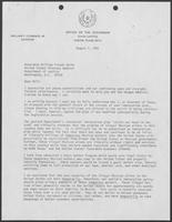 Memo from Bill Clements to William French Smith, August 7, 1981.