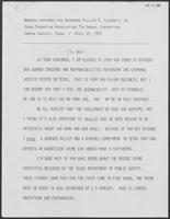 Speech prepared for Bill Clements presentation to the Texas Probation Association on April 19, 1982