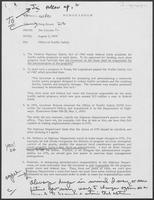Memo from Jim Cicconi to Doug Brown regarding Office of Traffic Study, August 2, 1979