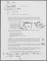 "Memo from Jim Cicconi to Doug Brown regarding Creation of a ""commerce department,"" October 3, 1979"