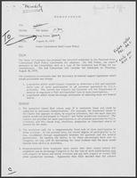 Memo from Mit Spears to William P. Clements, Jr. regarding Outer Continental Shelf Lease Policy, August 29, 1979