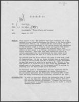 Memo from Mit Spears to Doug Brown regarding Coordination: State affairs and personnel, August 20, 1979