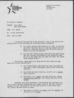 Memo from B.D. Daniel to William P. Clements, Jr., May 19, 1982