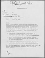 Memo from Mit Spears to William P. Clements, Jr. regarding New Regulations--E.P.A., October 9, 1979