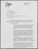 Memo from B.D. Daniel to Bill Clements, June 10, 1982