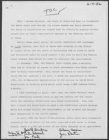 Statement made by Bill Clements, June 9, 1982