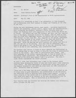 Memo from Janet Barkley-Booher to Dr. Miller, May 25, 1982