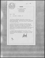 Memo from David Dean to William P. Clements, May 5, 1980