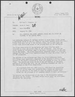 Memo from Dary Stone to Bill Clements, January 15, 1980
