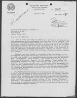 Letter from Bill Clinton to William P. Clements, March 4, 1980