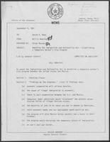 Memo from Willis Whatley to David Dean, September 8, 1981, regarding Amending the Immigration and Nationality Act, Establishing a Temporary Worker Visa Program, Bill Analysis