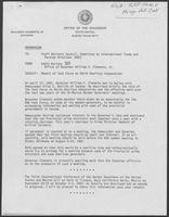 Memo from Eddie Aurispa to Staff Advisory Council regarding Report of Task Force on North American Corporation, undated