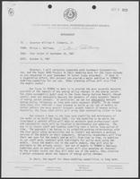 Letter/memo exchange between William P. Clements Jr. and Milton Holloway, October 8, 1981
