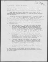 Program outline--report of Capitol Centennial Ceremony Committee, November 19, 1981
