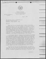 Correspondence between William P. Clements and John D. Rockefeller IV, March 29 to May 5, 1982