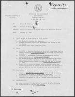 Memo from Richard Thomas to Hilary Doran regarding Salary of Juvenile Probation Commission Executive Director, January 27, 1982