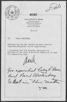 Memo from David A Dean to Tobin Armstrong October 4, 1979