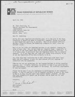Letter from Vera Carhart to Tobin Armstrong, April 24, 1979