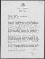 Letter from Governor William P. Clements, Jr. to T. L. Austin, May 12, 1982