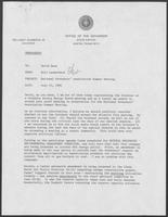 Memo from Bill Lauderback to David Dean, July 23, 1982