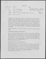 Memo from Howard M. Richie to Paul T. Wrotenbery regarding Impact of President's Proposed Budget reduction, April 16, 1980