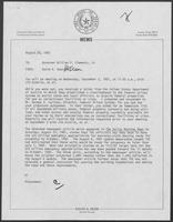 Memo from David A. Dean to William P. Clements regarding acquisition of federal properties for use as correctional facilities or sites, August 28, 1981