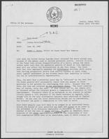 Memo from Johnny McCollum, to Dary Stone, June 30, 1980