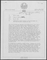 Memo from Johnny R. McCollum to David A. Dean, regarding commutation of death sentence to life imprisonment for John Henry Quinones, May 18, 1981