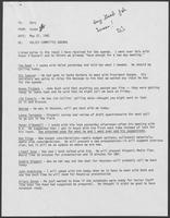 Memo from Susan to Dary regarding Policy Committee Meeting, July 22, 1982