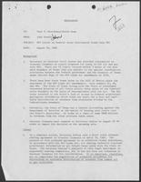 Memo from John Gosdin to Paul T. Wrotenbery and David Dean regarding William P. Clements letter on Federal Outer Continental Lease Sale #62, August 29, 1980