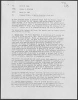 Memo from Johnny R. McCollum, to David A. Dean, regarding Proposed Orders in Ruiz v. Estelle Prison Suit, 13 March 1981