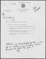 Correspondence between Representative Henry B. Gonzalez and Governor William P. Clements, Jr., regarding response to Ixtox I oil spill, August 14-September 24, 1979