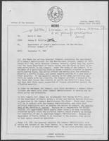 Memo from Johnny R. McCollum to David A. Dean, regarding appointment of Compact Administrator for Non-Resident Violator Compact of 1977, September 11, 1981