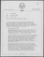 Memo from Max Hamilton to David Herndon, regarding Aid to Mexican Volcano Disaster Victims, April 28, 1982