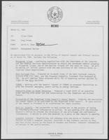 Memo from David A. Dean to Allen Clark, regarding Management Review, March 31, 1981