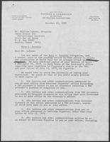 Letter from attorney Donna Brorby to William LaRowe, director of Texas Center for Correctional Services, October 23, 1980
