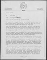 Memo from David A. Dean to Ross Perot regarding War on Drugs Committee Legislative Package, December 2, 1980